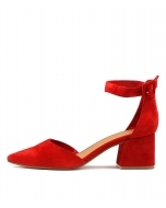 RAEMS RED SUEDE