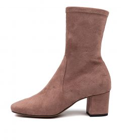 CAREFUL DK BLUSH STRETCH MICROSUEDE