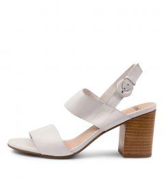 Ahoma Mo White Leather