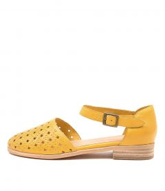 QUSHIE YELLOW LEATHER