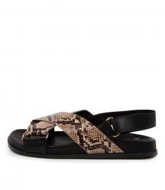 Haylow Mo Latte Black Snake Leather