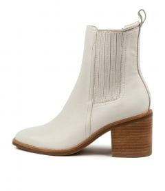 Naydo Mo Winter White Natural Heel Leather