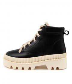 Peato Mo Black White Sole Leather
