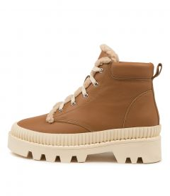 Peato Mo Dk Tan White Sole Leather