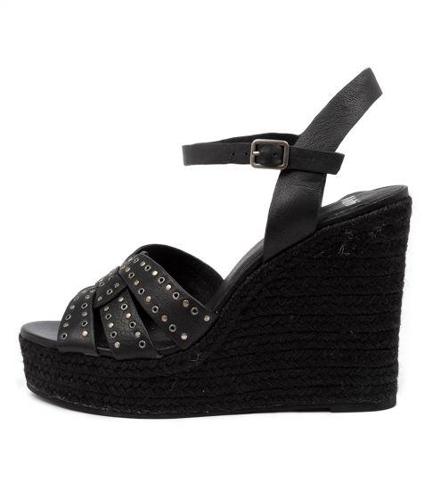kaila mo black black rop leather