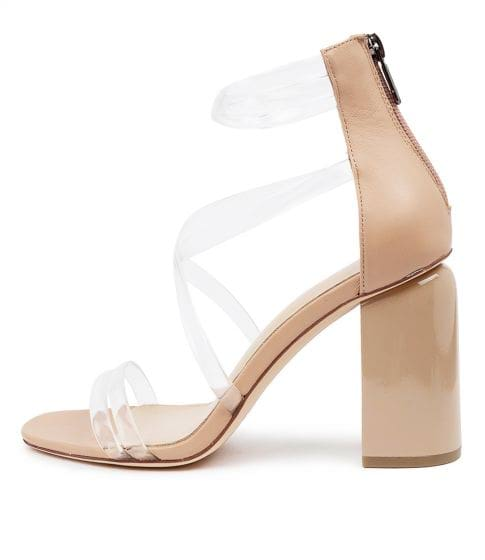 KBABY MO CLEAR NUDE VINYLITE LEATHE by MOLLINI - at Styletread