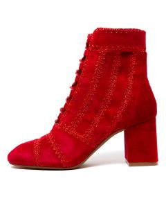 SKITTER RED SUEDE