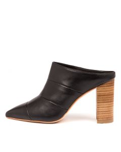 CUENCA BLACK NATURAL HEEL LEATHER