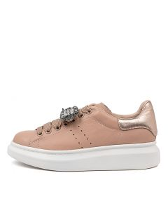 HACHI NUDE ROSE GOLD LEATHER SUEDE
