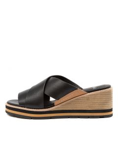 NEVIE MO BLACK DK TAN LEATHER