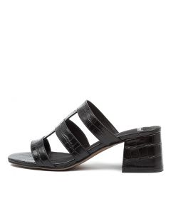 PANNI MO BLACK CROC LEATHER