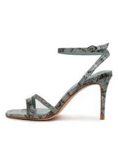 MEPPA MO DUSTY BLUE SNAKE PATENT LEATHER