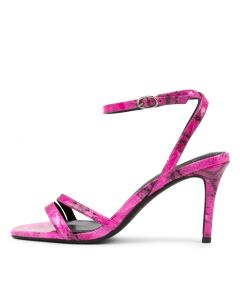 MEPPA MO NEON PINK SNAKE PATENT LEATHER