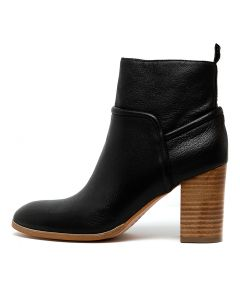ALTHEA BLACK NATURAL HEEL LEATHER